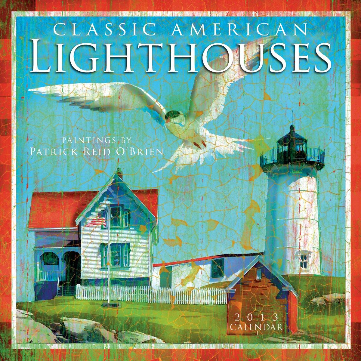 2012 lighthouses wall calendar