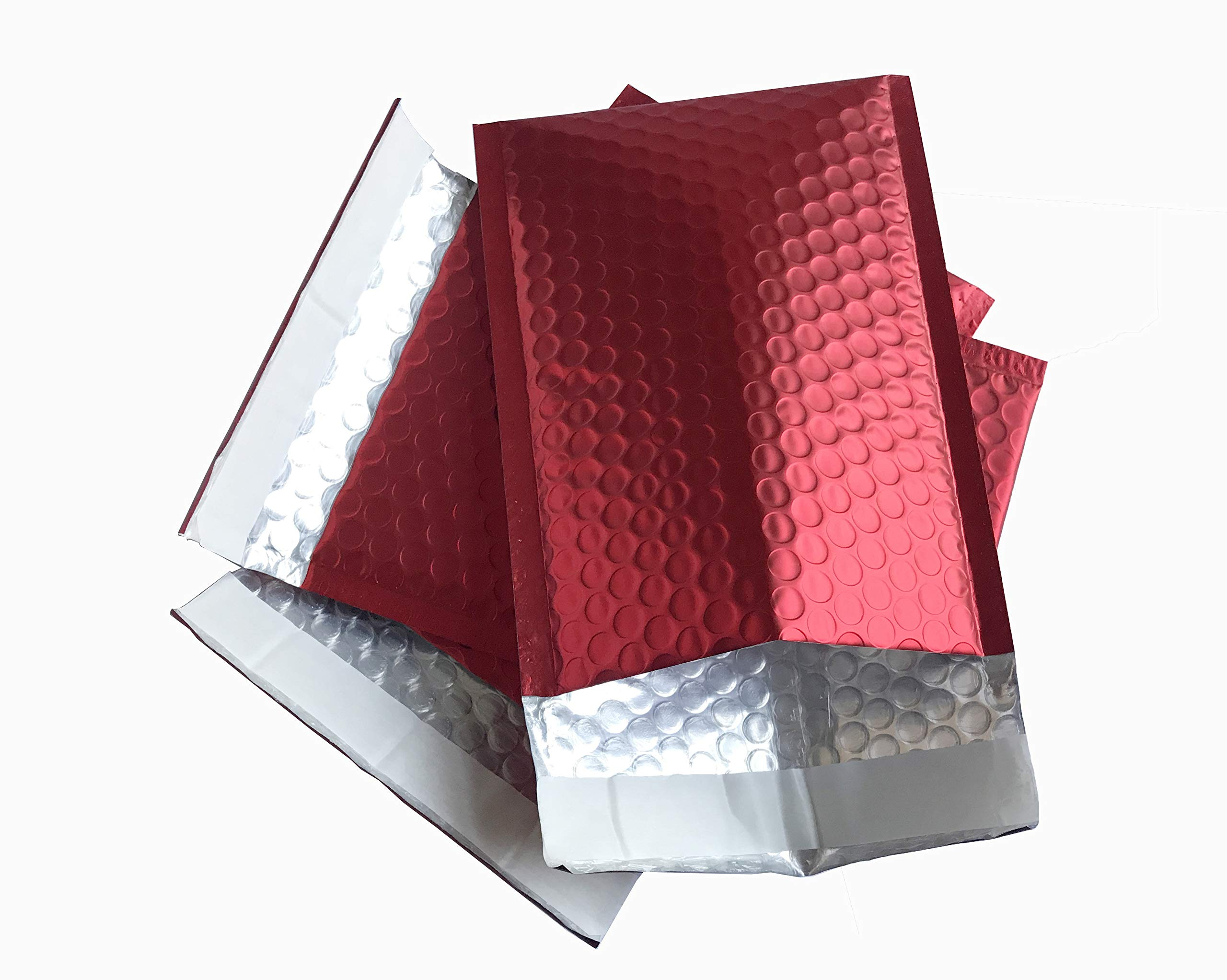 ProLine Matte Metallic Red Bubble Padded Mailers 6x10 Inch Self Seal Padded Envelopes (500)