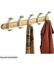 Safco Natural - Perchero de pared con 5 ganchos, de bambú