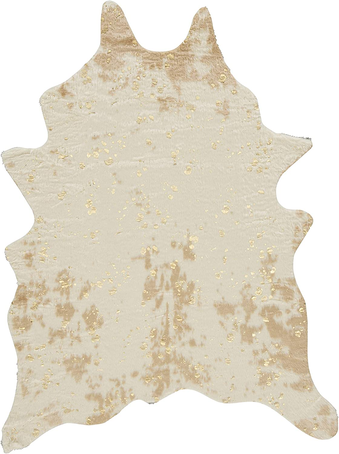 Signature Design By Ashley Jaxith Accent Rug Faux Cowhide Brown Home Kitchen