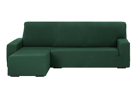 Martina Home Tunez Funda Sofá para Chaise Longue con Diseño Moderno, Tela, Verde Botella