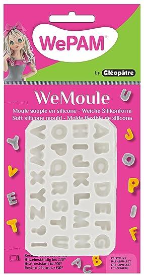 Cleopatre PF08 - Molde de silicona para moldear el alfabeto con porcelana fría: Amazon.es: Oficina y papelería