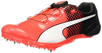 Puma Men s Bolt Evospeed Disc Tricks Black and Red Blast Running Shoes - 9  UK  f1abe0563