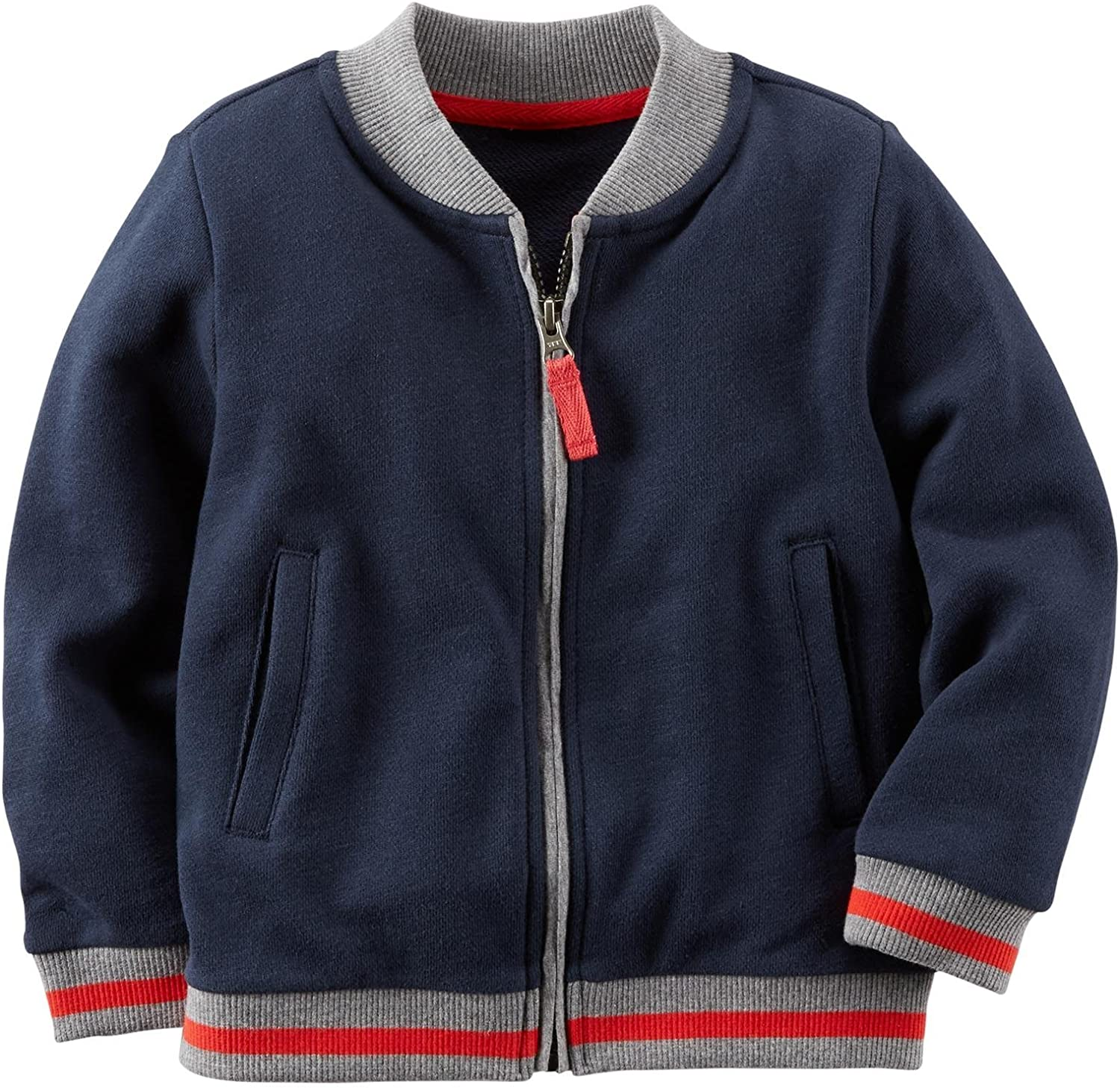 Toddler//Kid 4 Carters Little Boys Crew Jacket - Navy