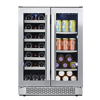 AVALLON AWBC241GGFD 21 Bottles & 60 Cans Beverage Cooler/ Refrigerator
