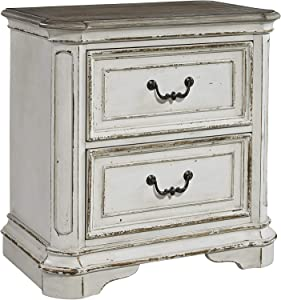 Liberty Furniture Industries Magnolia Manor 2 Drawer Night Stand, W28 x D17 x H28, White