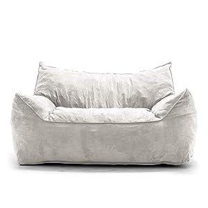 Big Joe Imperial Fufton in Comfort Suede Plus, Cement