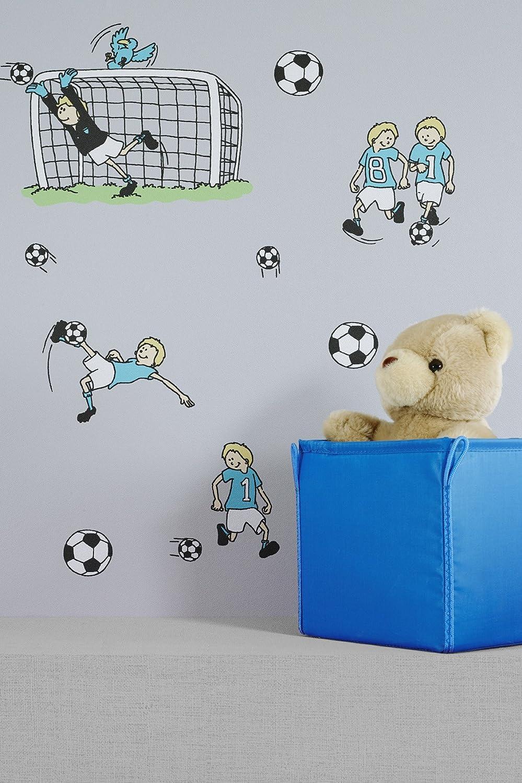 Vlies Tapete Fußball Kinder Jungen Zimmer Fussball Tapete Grau Türkis Grün:  Amazon.de: Baumarkt