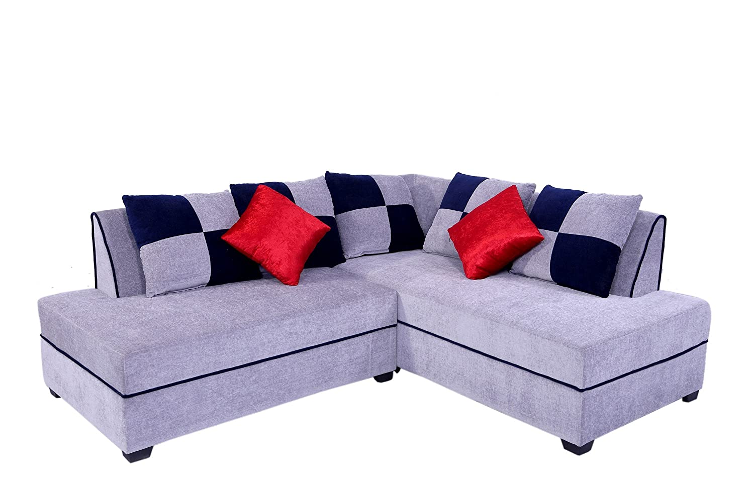Muebles Casa Crown CASA009 Five Seater Sofa (Blue and Grey)