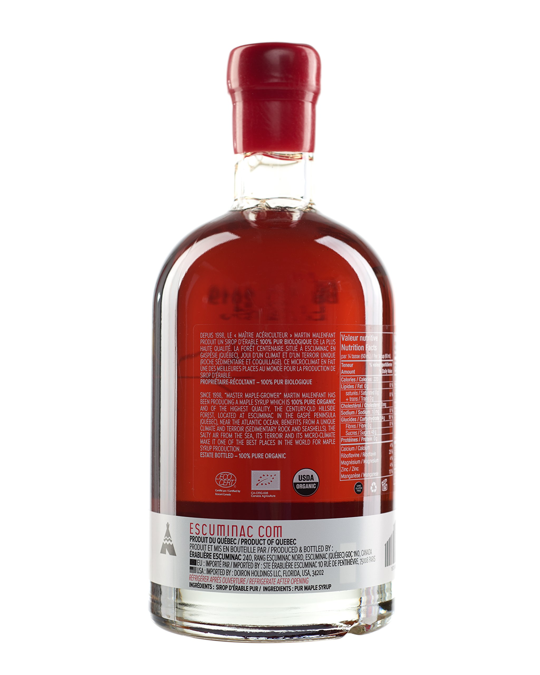 Award Winning Escuminac Canadian Maple Syrup Gift Bundle Grade A Including Our Extra Rare, Great Harvest and Late Harvest - Pure Organic Unblended Single Forest - 3 X 16.9 fl oz (500 ml) - Easter Gift by Escuminac (Image #6)