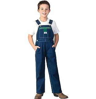 Boys Carhartt Kids CM8665 Washed Denim Bib Overall