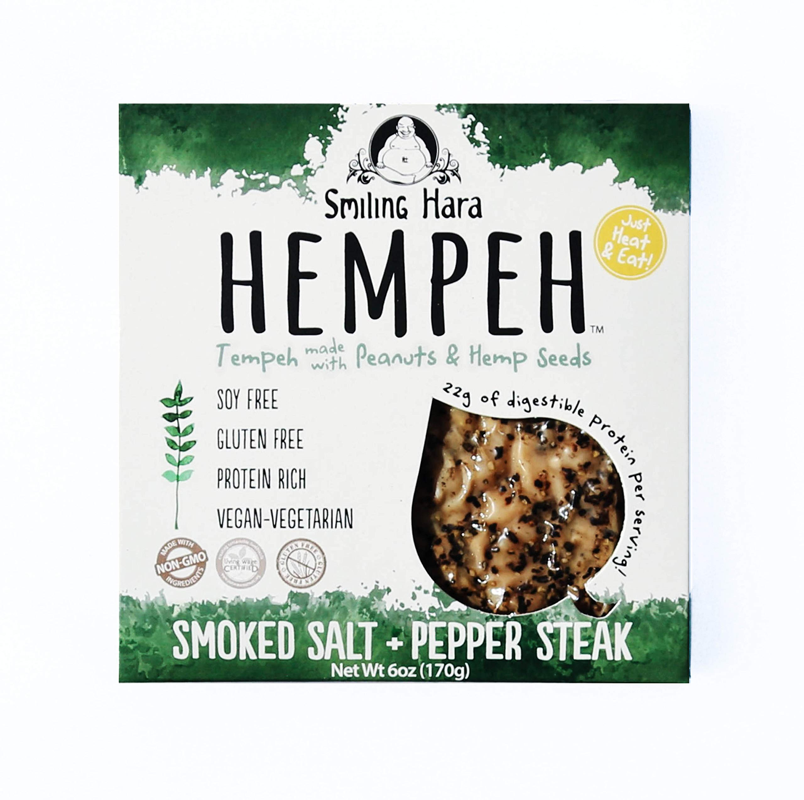 Smiling Hara, Tempeh Smoked Salt And Pepper, 6 Ounce