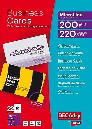 DECAdry T403327 tarjeta de visita - Tarjetas de visita (85 ...