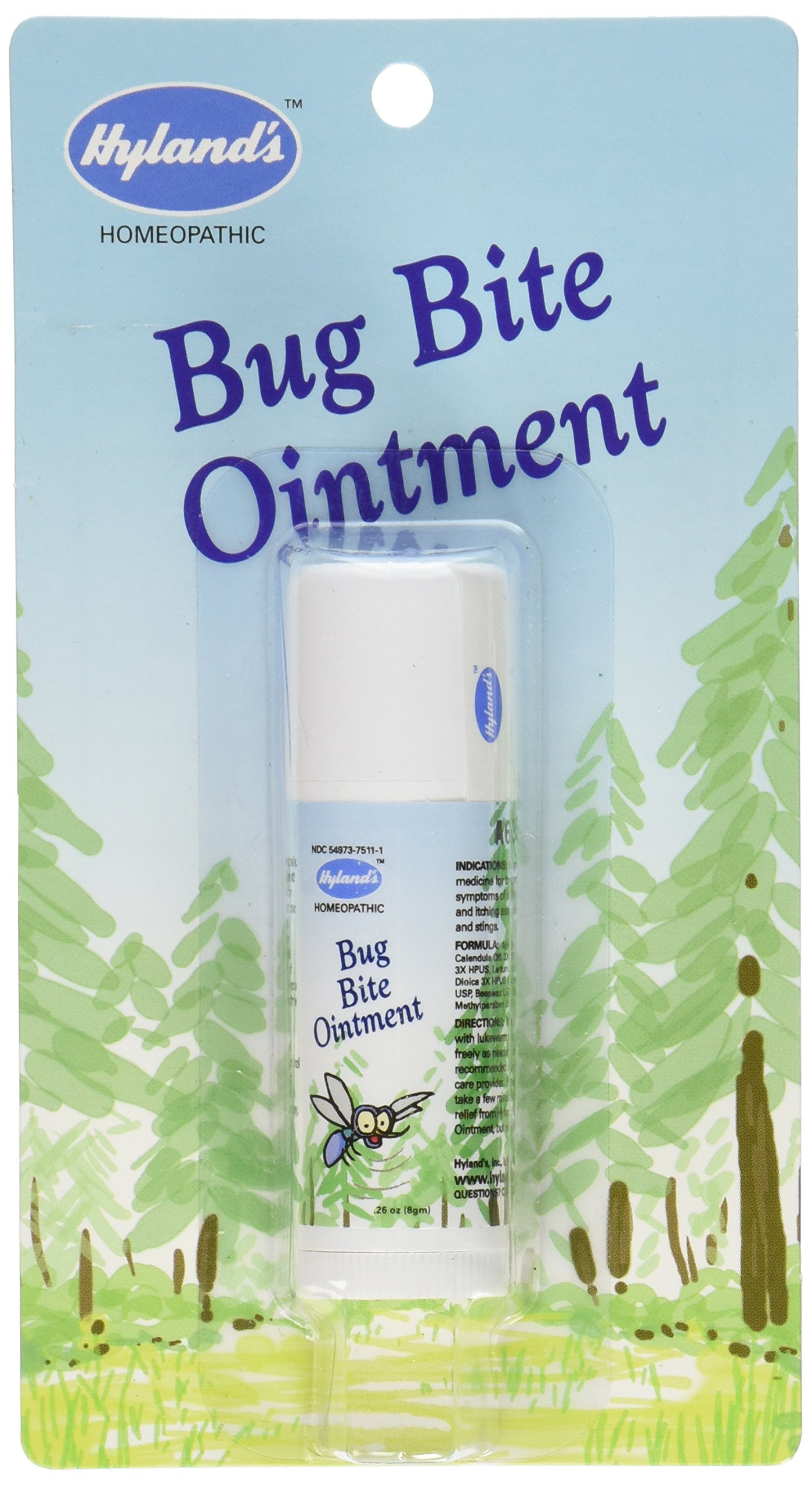 Natural Bug Bite Itch Relief by Hyland's, Fast Acting Bug Bite Ointment, Relieves Swelling and Itching from Bug Bites, 0.26oz Stick by Hyland's Homeopathic