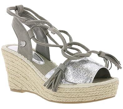 Fesselschnürung Sommer Keilabsatz Sandale Sandalette Tailor Tom sBQthrxdC