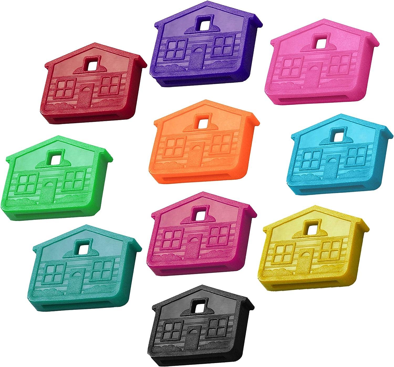 8Pc Hollow Silicone Soft Key Locks Keys Cap Covers Topper Keyring Home Gadget AU