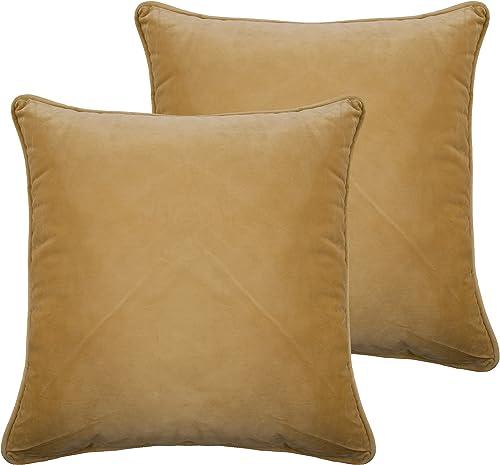 Sherry Kline Richmond Velvet Pillow Set of 2 , 20 x 20 , Gold