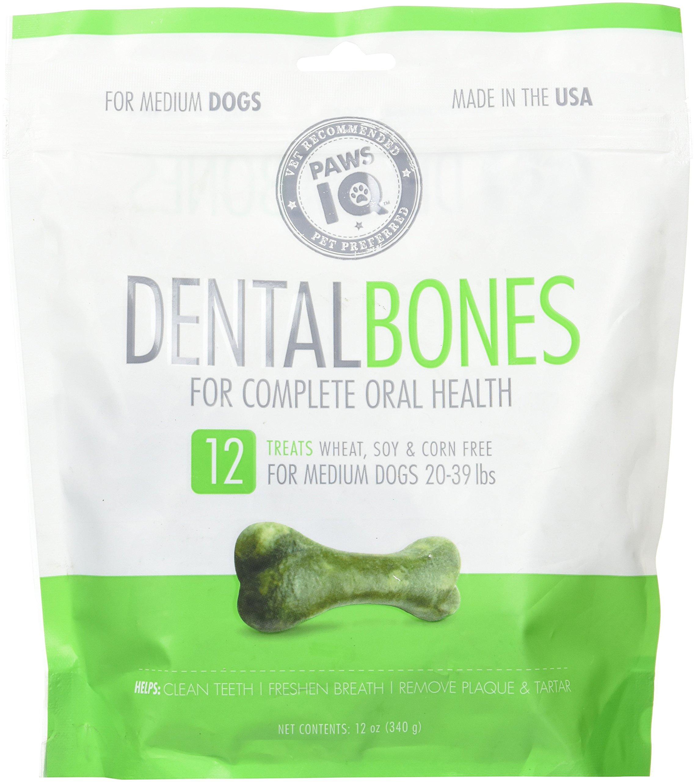 Paws IQ Dental Medium Bone - 12oz
