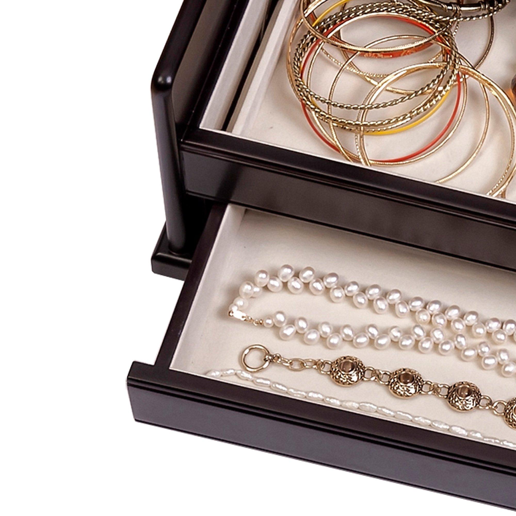 Mele & Co. Juliette Wooden Jewelry Box (Java Finish) by Mele & Co. (Image #5)
