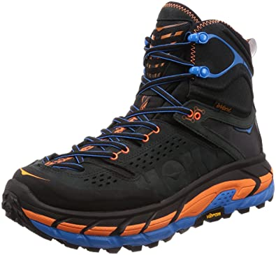 HOKA ONE ONE Mens Tor Ultra Hi Waterproof Hiking Shoe,Anthracite/Orange,US
