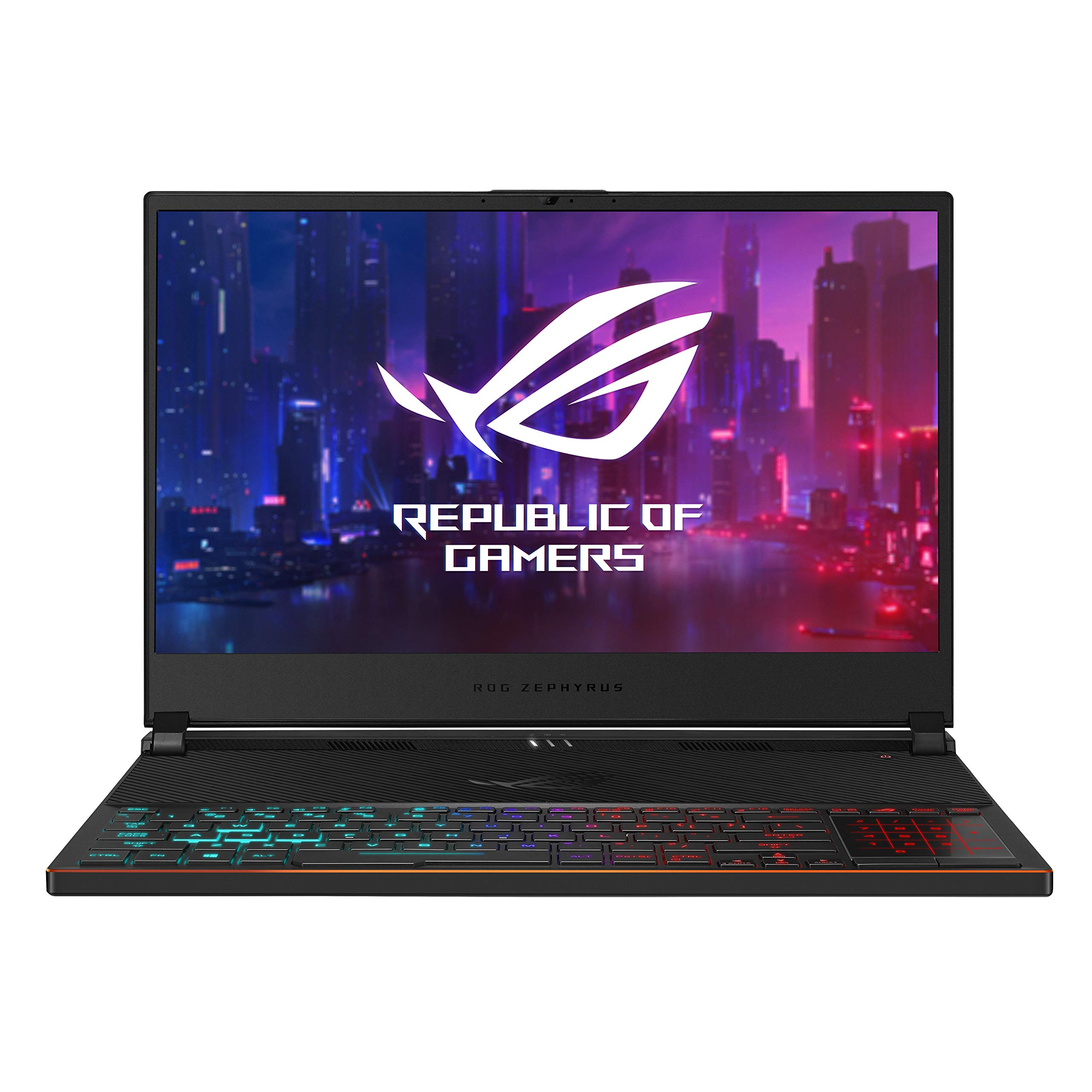 "ASUS ROG Zephyrus S Ultra Slim Gaming Laptop, 15.6"" 144Hz IPS Type FHD, GeForce RTX 2070, Intel Core i7-8750H, 16GB DDR4, 512GB PCIe NVMe SSD, Aura Sync RGB, Windows 10 64-bit, GX531GW-AS76 .62"" Thin by ASUS (Image #2)"