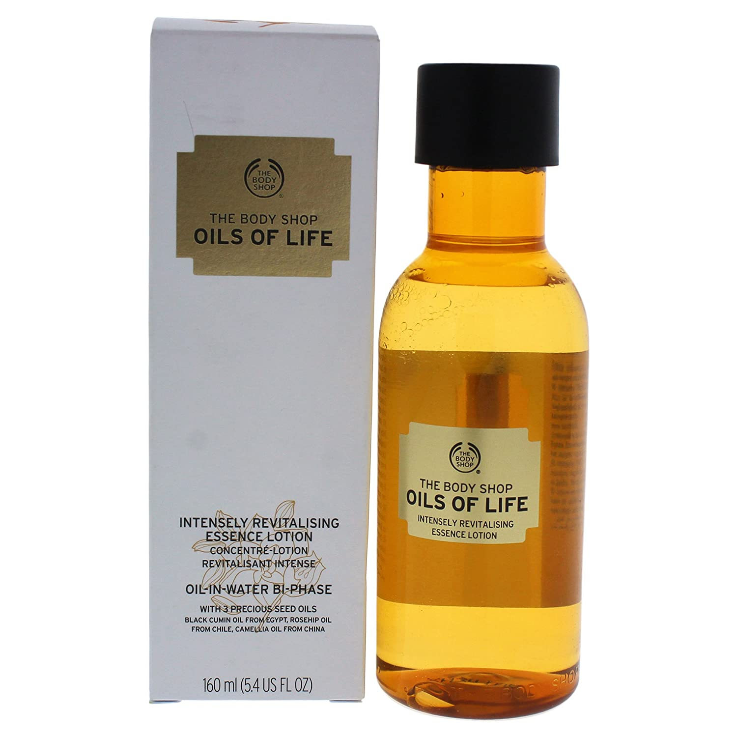 The Body Shop Oils of Life Intensely Revitalising Essence Lotion, 100% Vegan, 160ML The Body Shop Canada 5028197415884