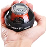 LED Wrist Ball - Wrist Trainer - Powerball - Gyroscope Wrist Strengthener Power Force Ball and Forearm Exerciser Featuring Digital LCD Counter and LED Light - by Utopia Fitness