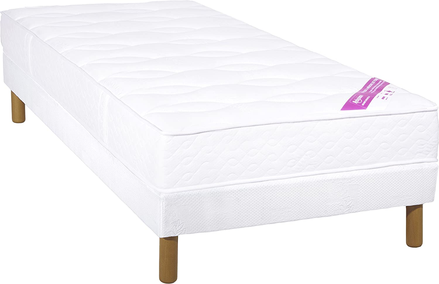 Relaxima 2103279 Salvador Dunlopillo Mattress Slatted Feet Folding Bed Smooth Band Canopy Colour 90 X 190 Cm Kitchen Home