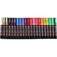 مجموعة مكونة من 21 لون من يوني بوسكا، مع قلم التعليم فائق الدقة، PC-1M)، مجموعة 21 لونًا مع حزمة الهدايا الاصلية لمتجر…