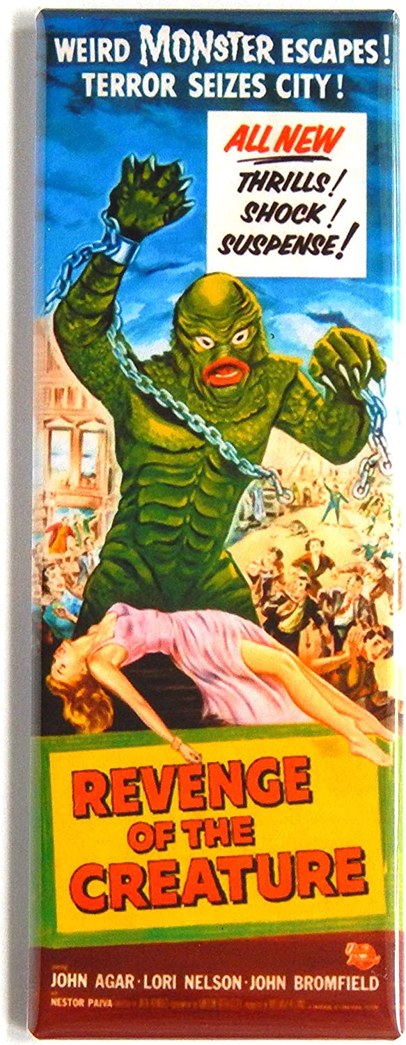 Revenge of the Creature from the Black Lagoon Movie Poster Fridge Magnet (1.5 x 4.5 inches)
