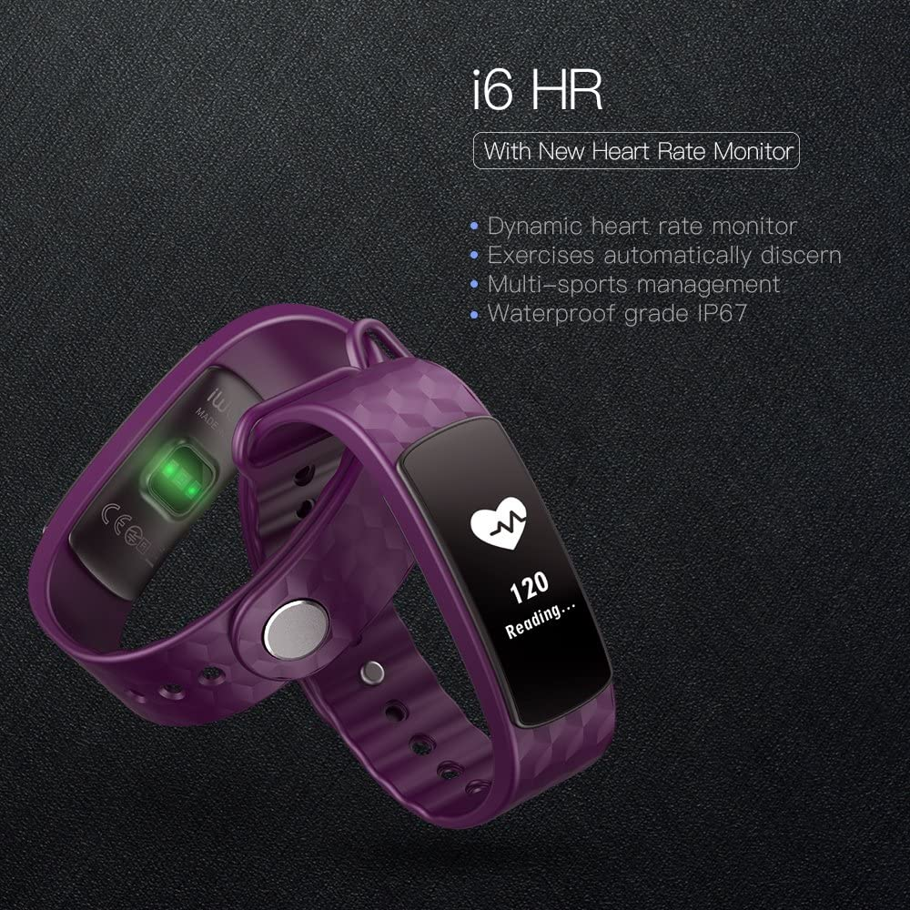 Steps Distance Track Calories Counter Activity Touch Screen Bracelet Text /& Calendar Alerts iWOWNfit i6HR Fitness Tracker Smart Wristband with Deep//Light Sleep Monitor and Call