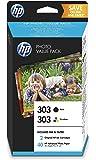HP Z4B62EE 303 Original Bläckpatron, Svart och Trefärgad