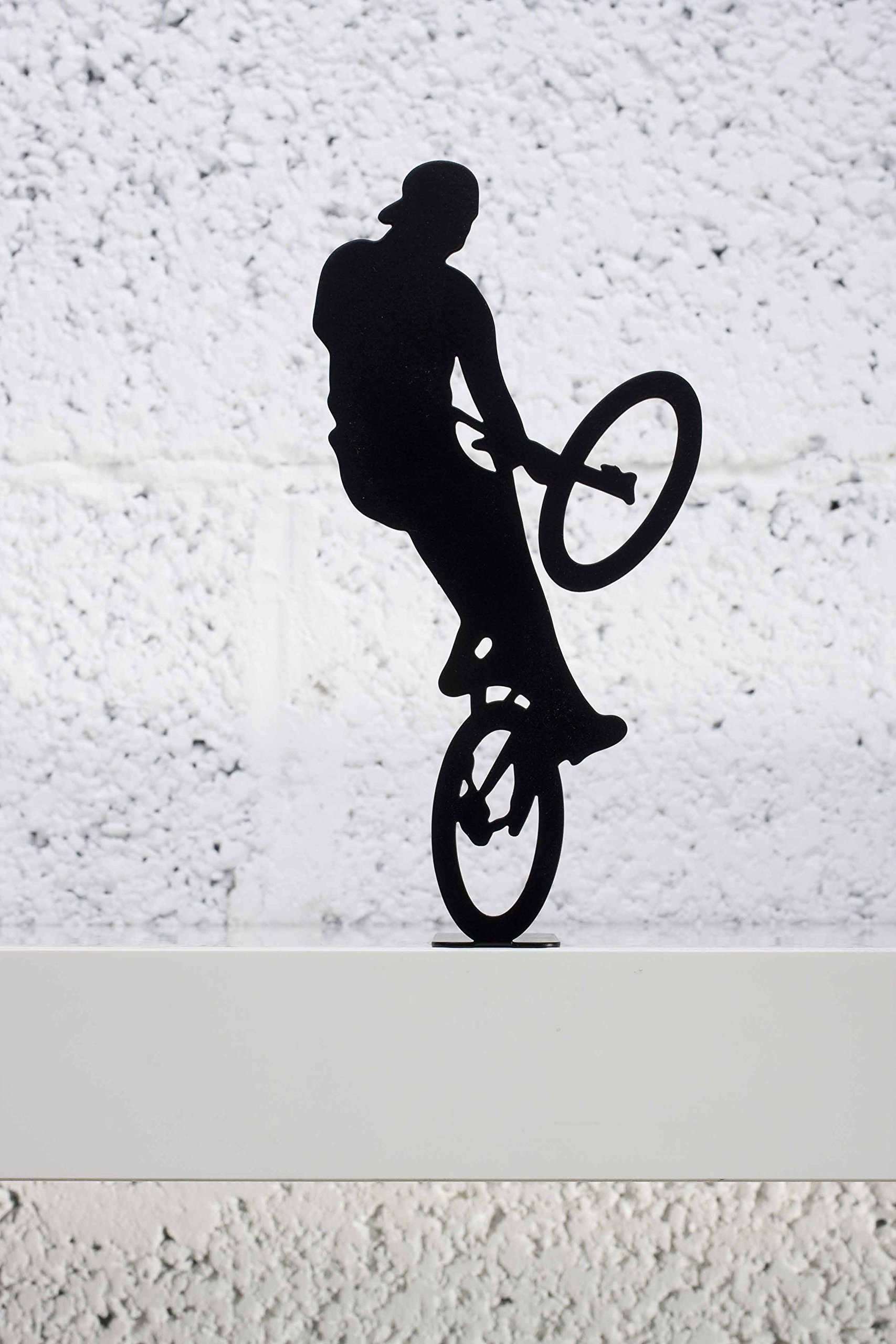 ARTORI Design Extreme Bike Rider Bicyclist Black Metal Figurine Statuette Bicycle Shelf Decoration by ARTORI Design
