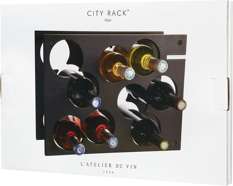 Capacidad 9 Botellas LAtelier du Vin 095220-9 City Rack Color Negro Botellero