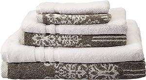 Linum Home Textiles Gioia-Denzi Bath Towel, (6 Piece), Vintage Brown/White
