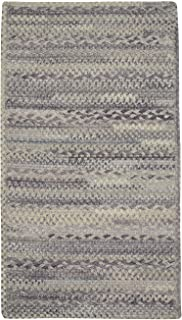 "product image for Harborview Cinder 5' 6"" x 5' 6"" Cross Sewn Rectangle Braided Rug"