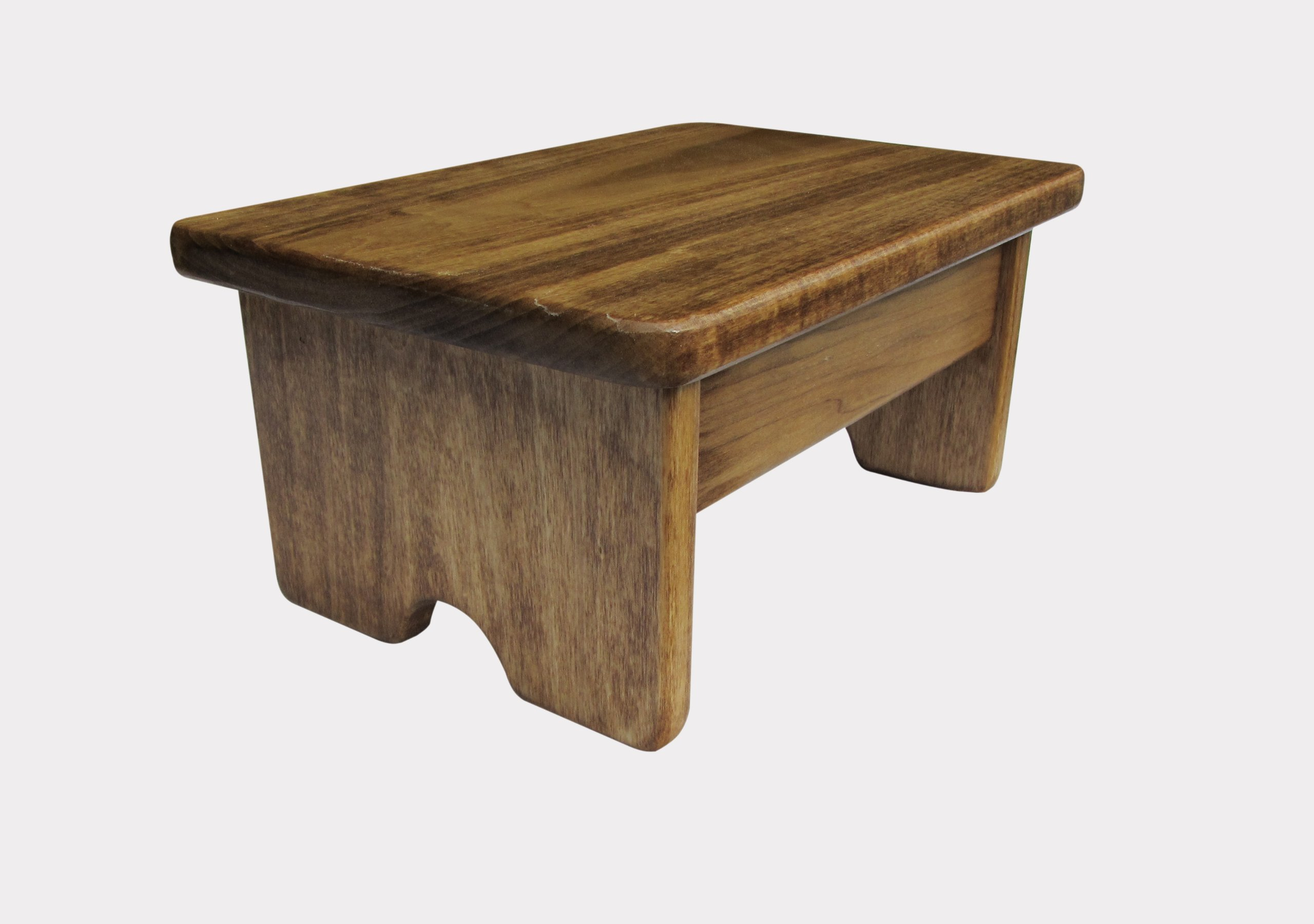 Foot Stool Poplar Wood 7'' Tall Maple Stain (Made in the USA)