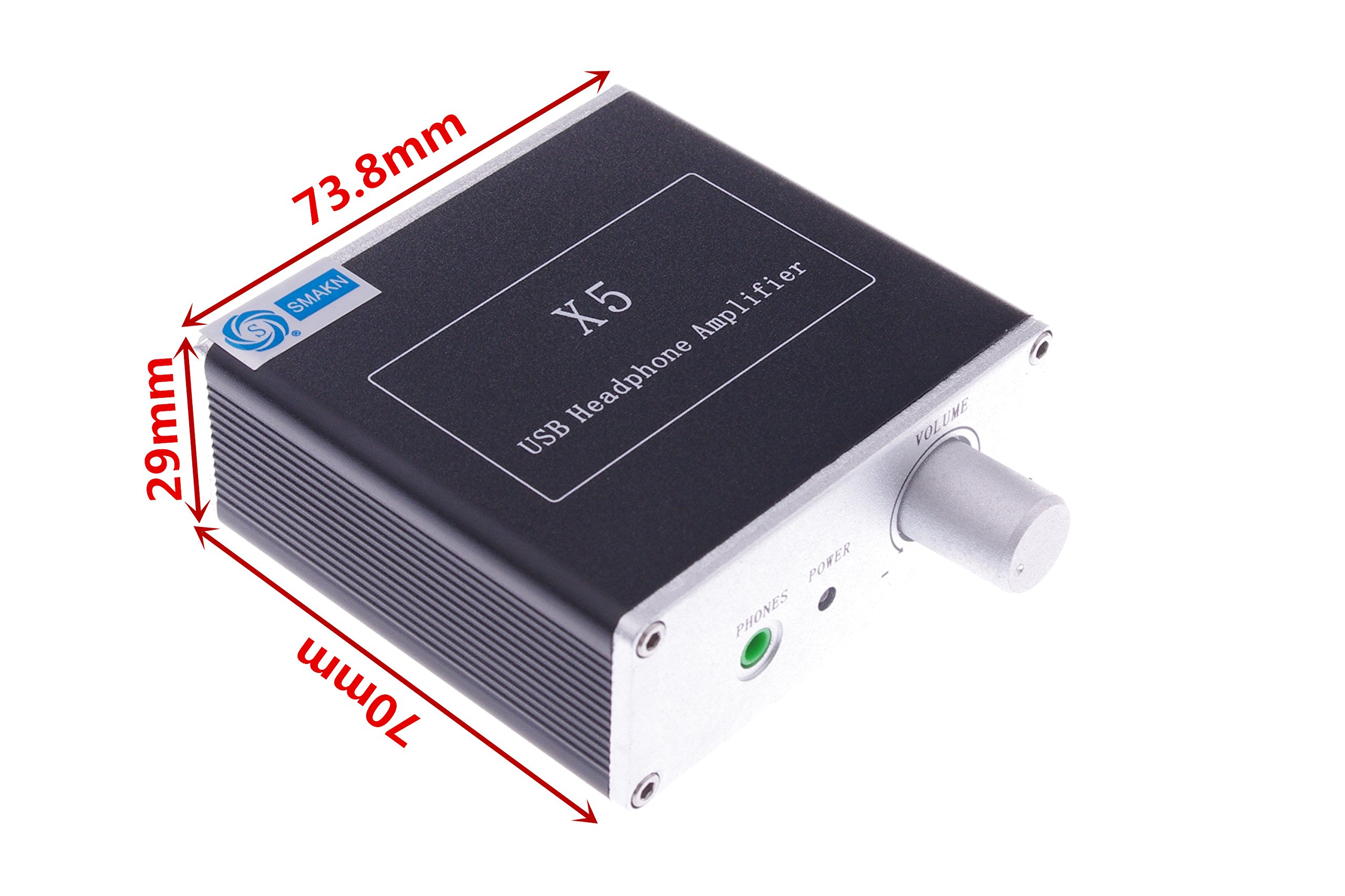 SMAKN X5 PCM2706 + CS4344 + Dual-output Headphone Amplifier TDA1308 Parallel USB Amp by SMAKN