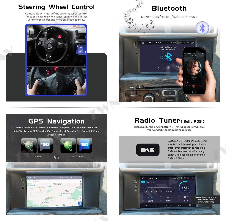 4G RAM 64G ROM ZWNAV 7 Zoll Andriod 9.0 Double Din Auto Stereo Navi Bluetooth GPS Navigation f/ür Citroen C4 C4L DS4 2011-2016 Lenkradsteuerung Steuerger/ät WiFi USB Carplay Spiegel Link