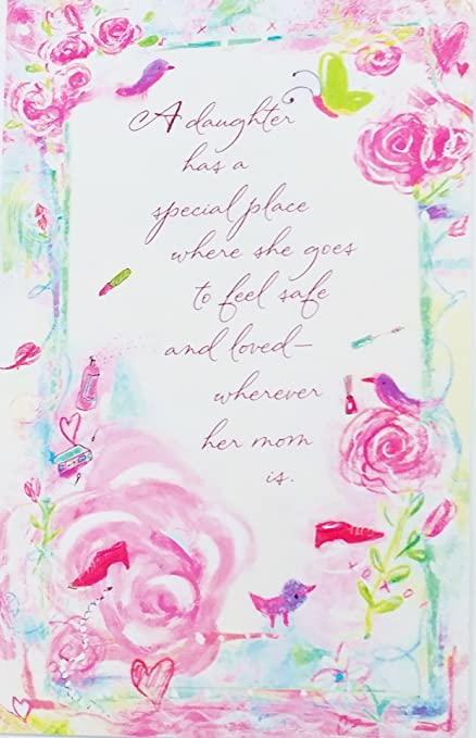 Amazon mothers day greeting card from daughter special mothers day greeting card from daughter quotspecial place to feel safe and loved m4hsunfo