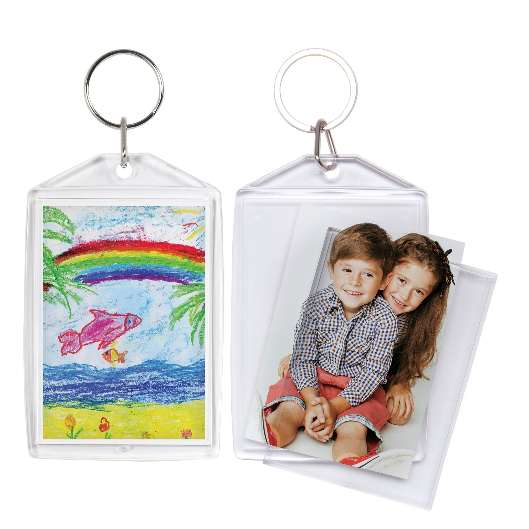 2x3 Acrylic Snap-in Photo Keychains - 72 Pack