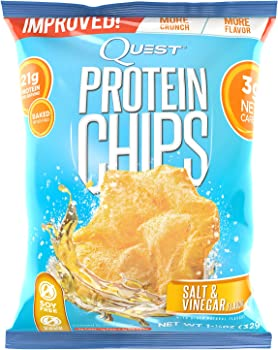 Quest 1.2oz Bag 8 Count Nutrition Protein Chips Salt & Vinegar