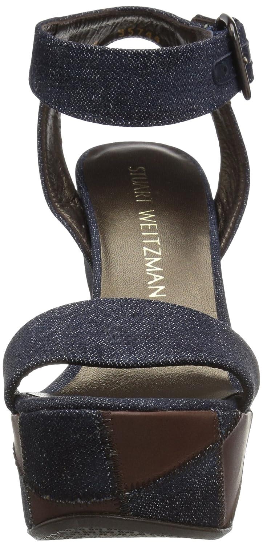 Stuart Weitzman Women's Letsdance Wedge Sandal B01N0O8V5X 7.5 B(M) US Navy