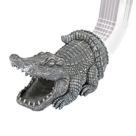 Design Toscano Alligator Decorative Garden Downspout Collection