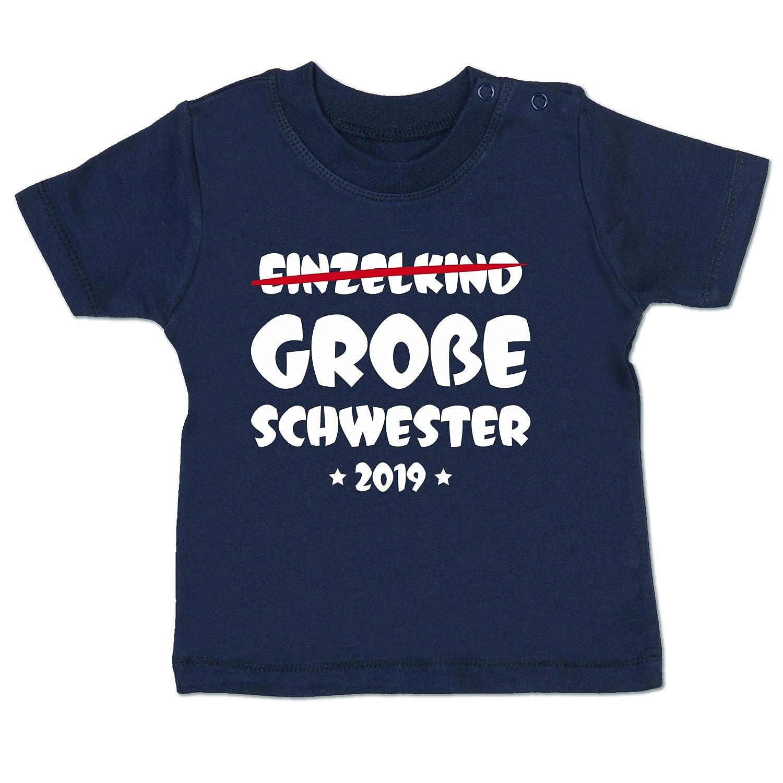 Shirtracer Geschwisterliebe Baby - Einzelkind Große Schwester 2019 - Babyshirt Kurzarm BZ02