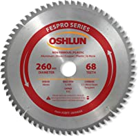 Oshlun SBFT-260068A 260mm 68 Tooth FesPro Non Ferrous TCG Saw Blade with 30mm Arbor for Festool Kapex KS 120