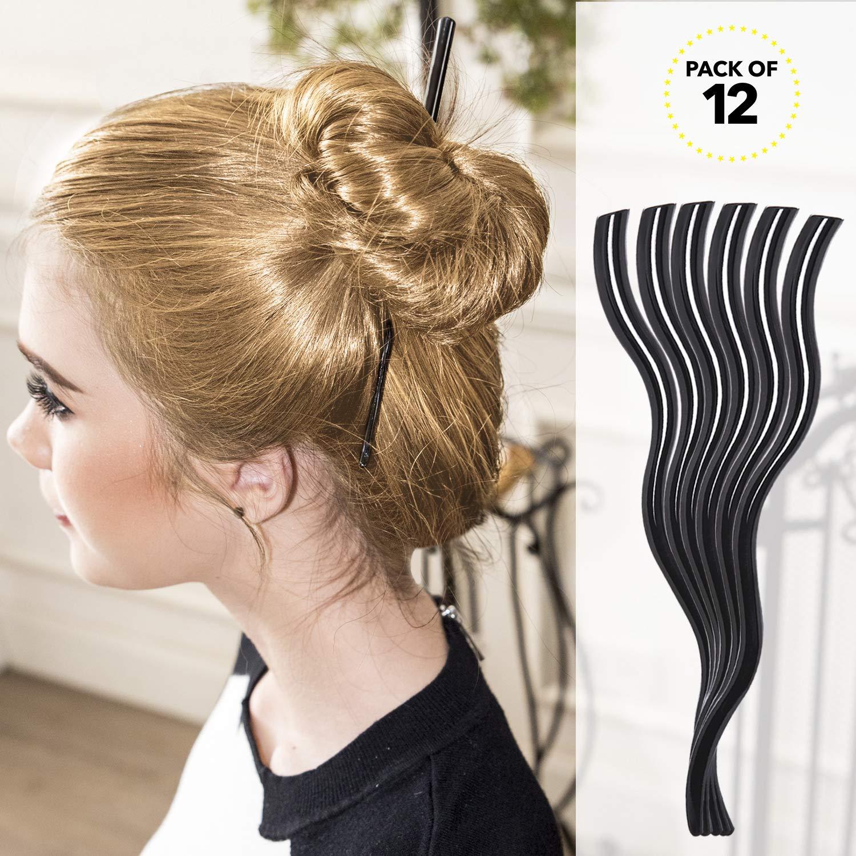 Rc Roche Ornament Womens Hair Curved Spiral Chignon Bun Maker Updo Decor