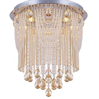 treobis 45cm champagner kristall kronleuchter deckenleuchte lster decken beleuchtung deckenlampe - Kronleuchter Deckenleuchte