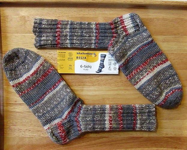 Calcetines lana/tejido a mano/selbs tejido/calcetines / 6 ply/gr