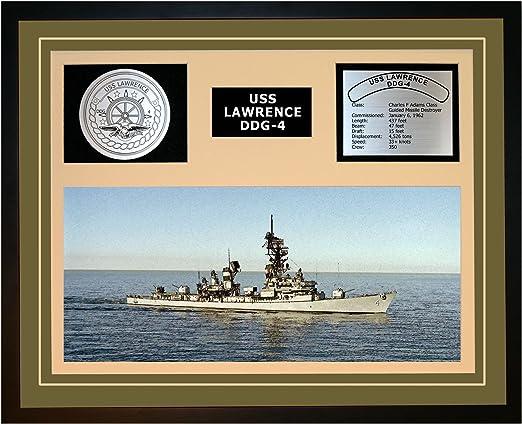 US NAVY USS LAWRENCE DDG-4 Challenge Coin W// Presentation Box